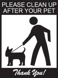 Clean up after your dogs